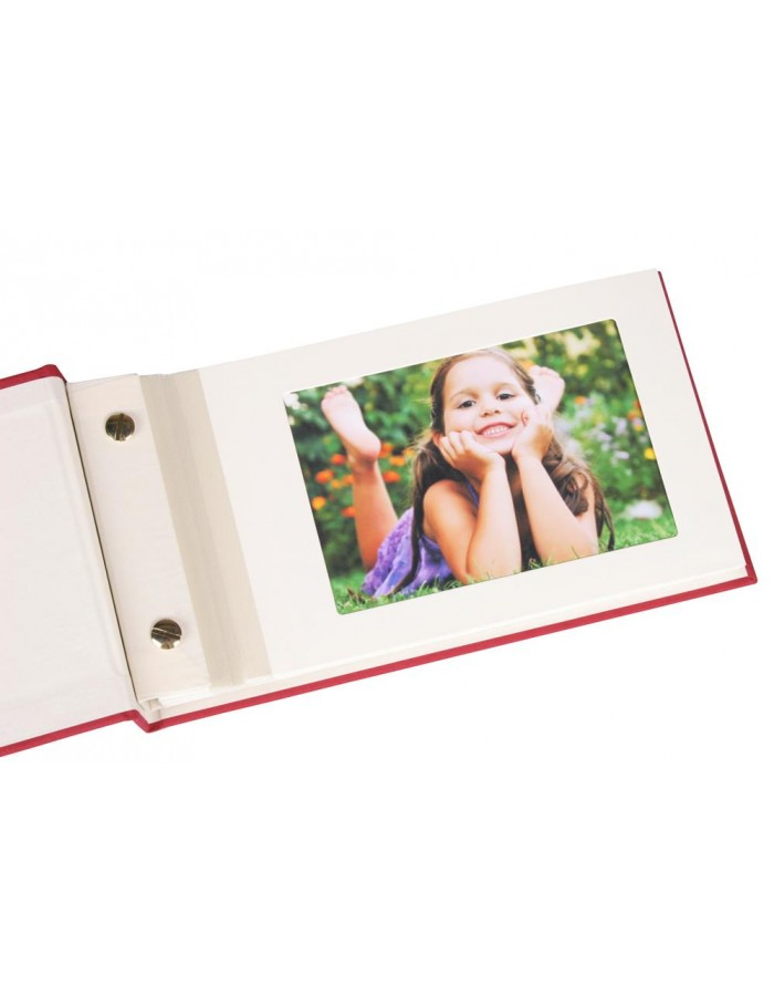 Post bound photo album Imperial red