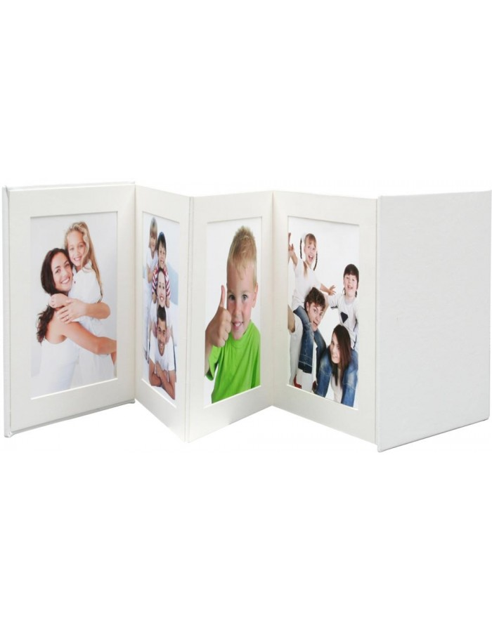 passepartout leporello 8 fotos 13x13 cm wei deknudt fotoalben. Black Bedroom Furniture Sets. Home Design Ideas