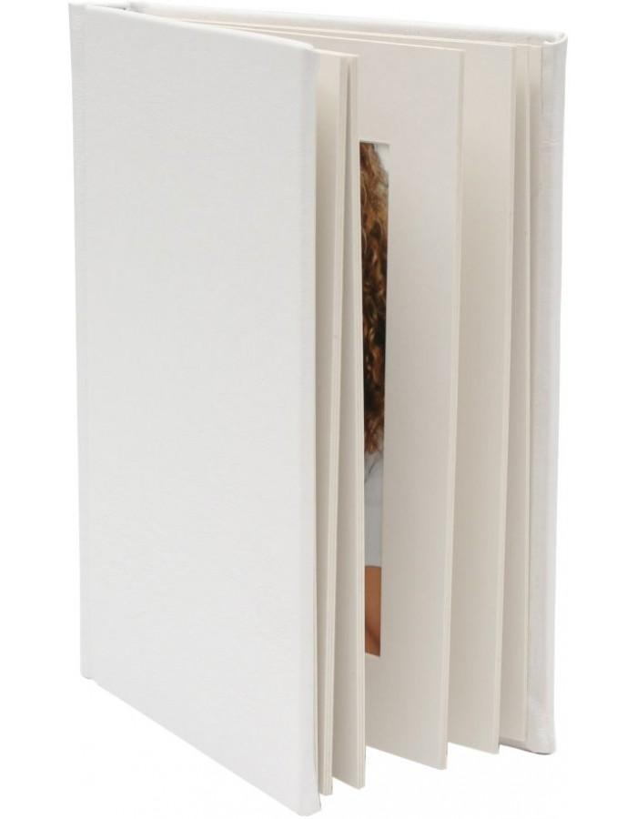 Passepartout Leporello 8 Fotos 13x18 cm weiß
