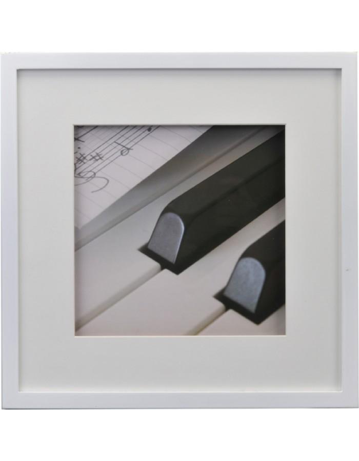 Piano Bilderrahmen 30x30 cm weiß