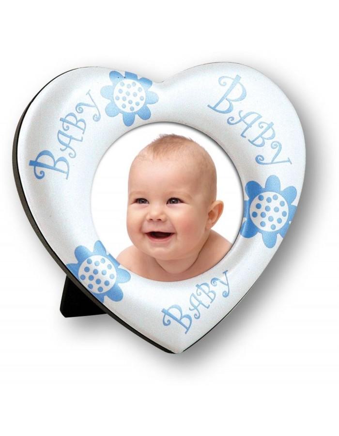 Piccolino Babyrahmen 5x5 cm hellblau   fotoalben-discount.de
