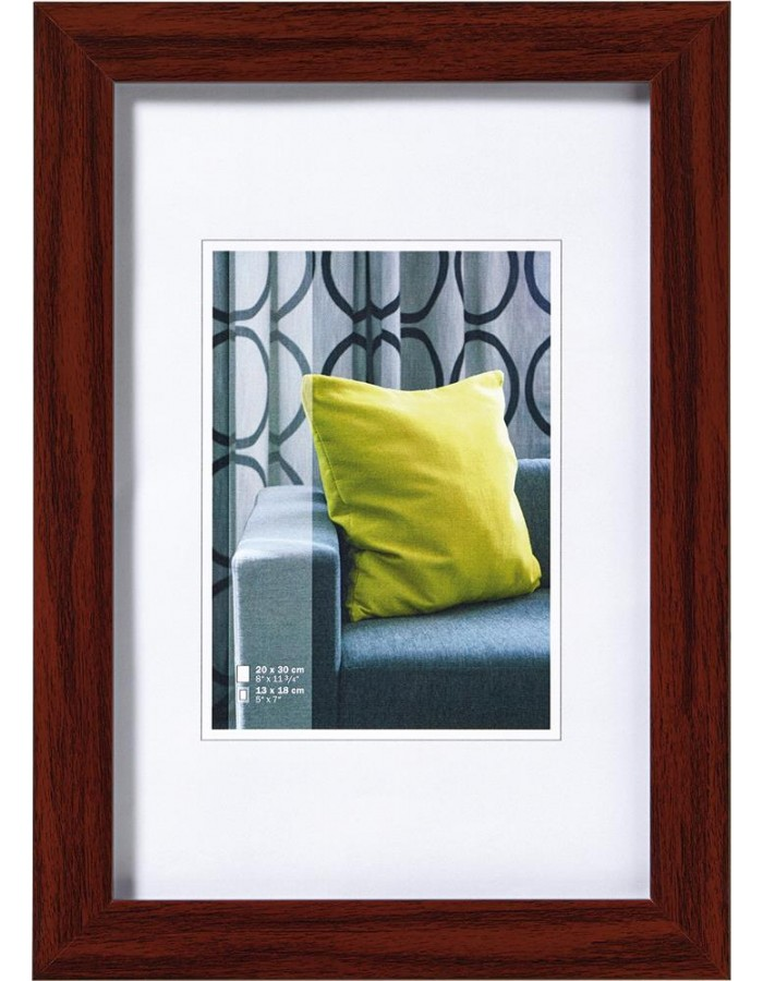 Walther Pillow picture frame 30x40 cm mahogany | fotoalben-discount.de