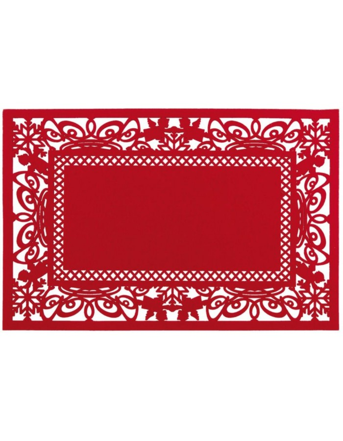 red place mat - FE040.009LR Clayre Eef