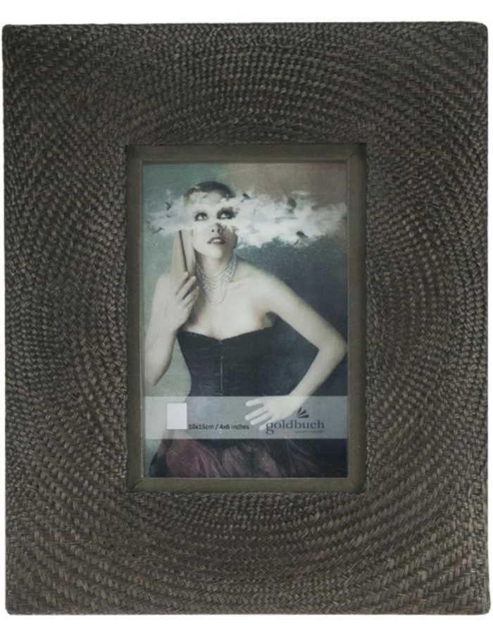 Taupe photo frame Goldbuch BOHOL 10x15 cm Rattan on