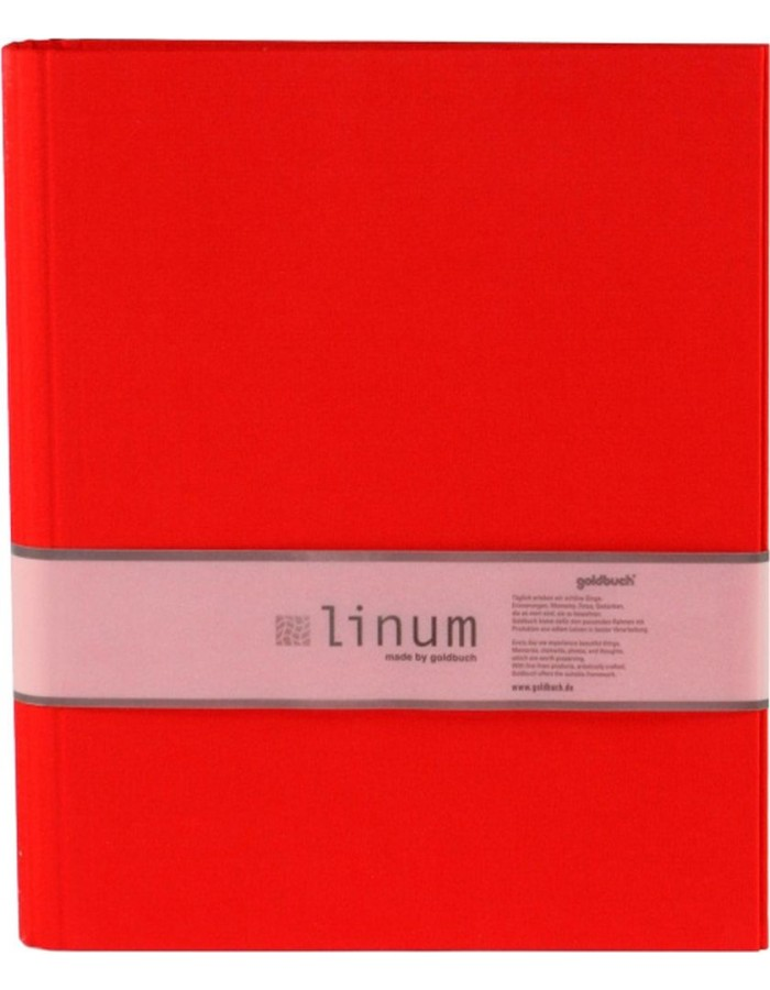 Ring Binder A4 Linum red