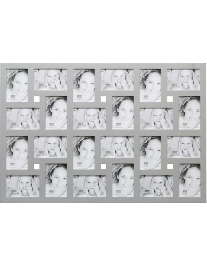 Galerierahmen S65SP silber 24 Fotos 10x15 cm | fotoalben-discount.de