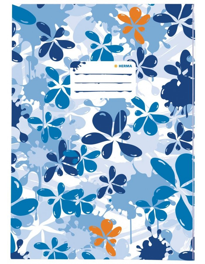 Exercise book cover A4 Splash blue