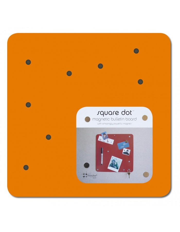 Magnetic wall orange SQUARE DOT 23 cm