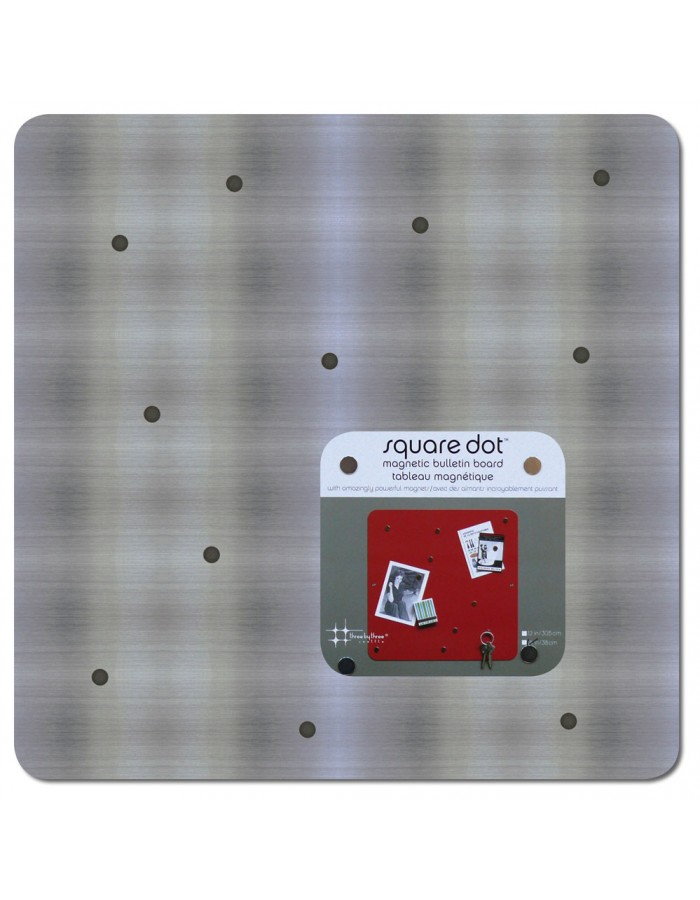 SQUARE DOT Magnetic Board 38 cm in stainless steel