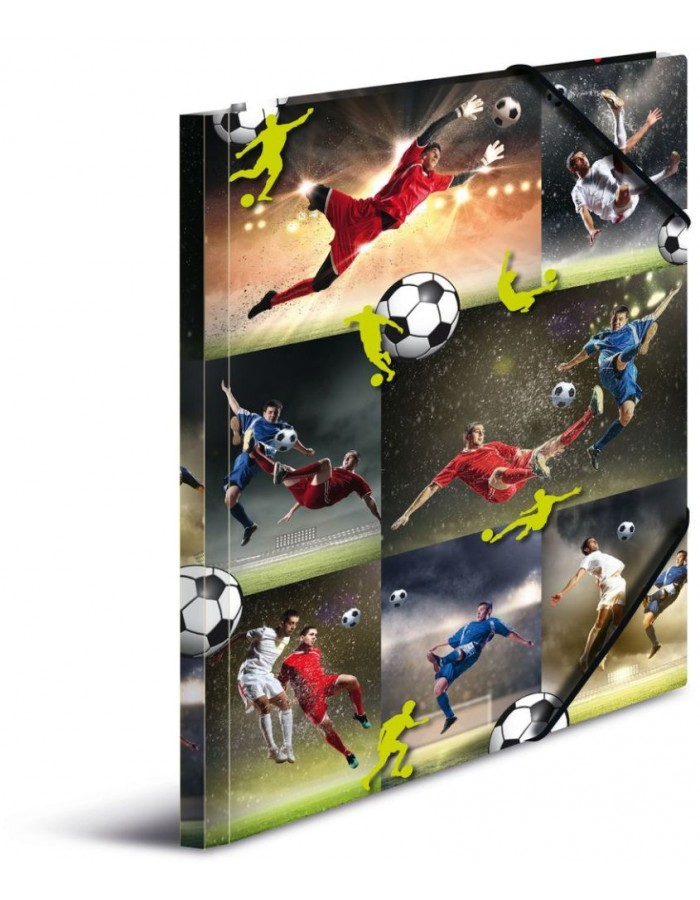 Elasticated folder A3 Soccer, cardboard