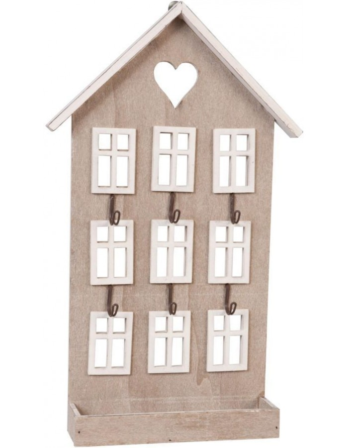 key holder HOUSE 22x36 cm light brown