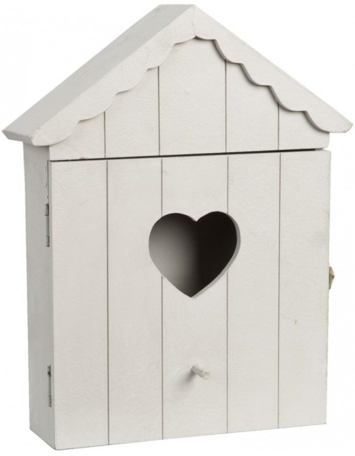 Key box birdhouse pastel pink
