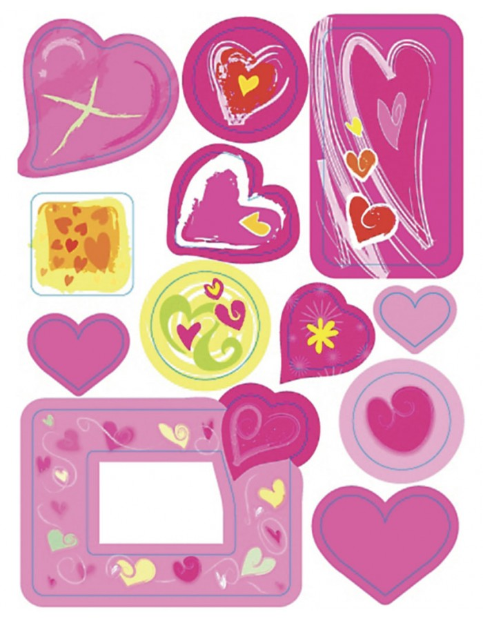 MAGIC Hearts - decorative labels - 1 sheet