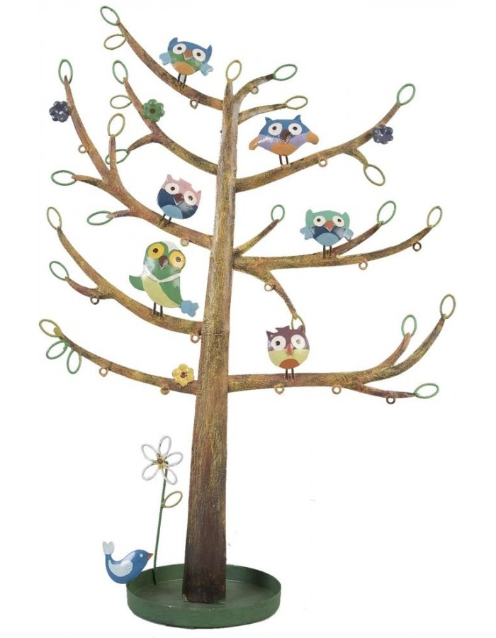 Jewelery holder tree with owls 32x12x48 cm