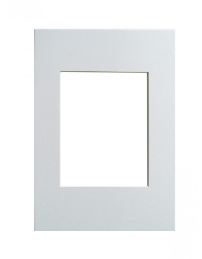 Passepartout - 20x30 cm - polarweiß | fotoalben-discount.de