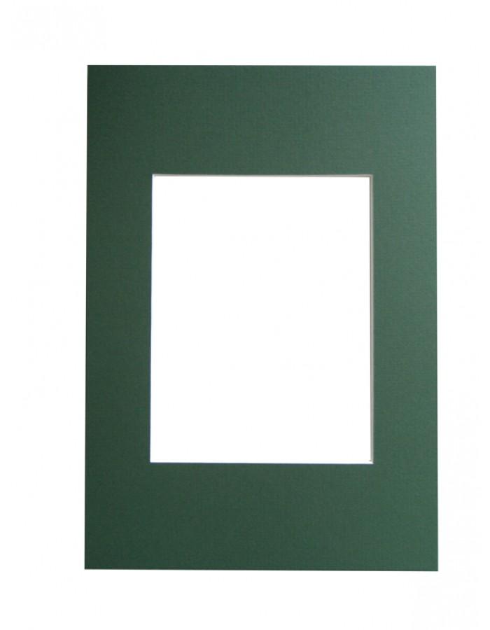 Walther Schrägschnitt-Passepartout grün 20x30 | fotoalben-discount.de