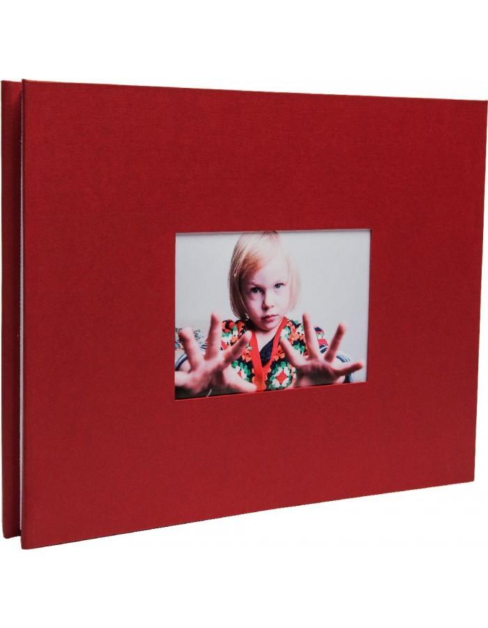 hnfd schraubenalbum laddi 38x30 cm rot wei e seiten fotoalben. Black Bedroom Furniture Sets. Home Design Ideas