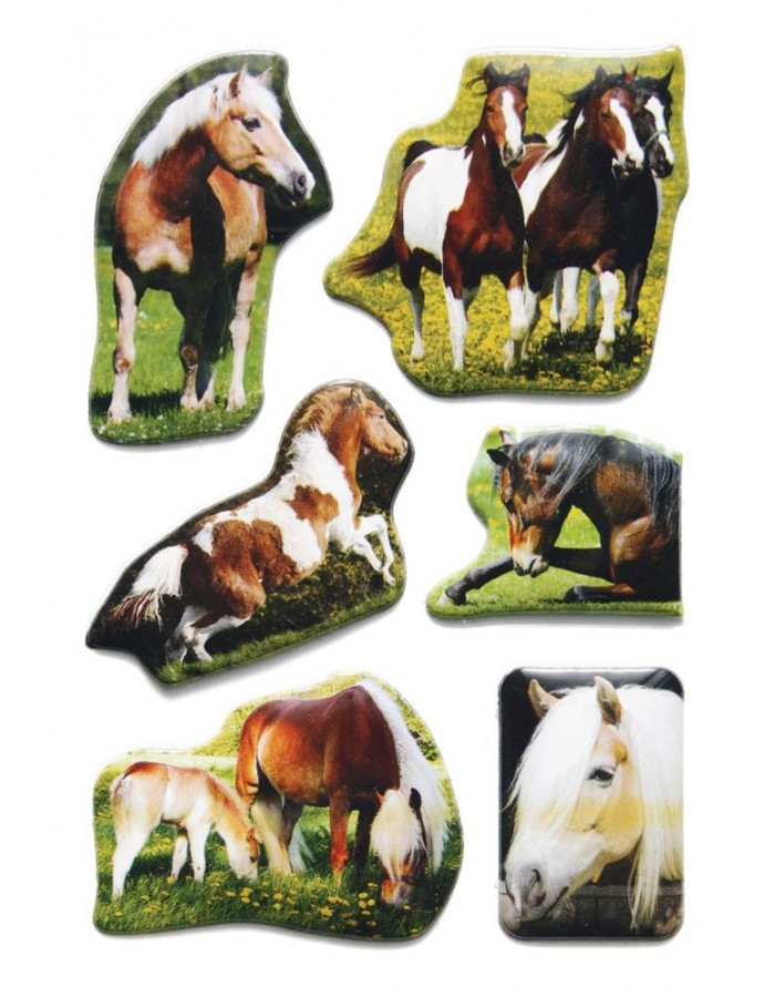 decorative labels Horses - embossed