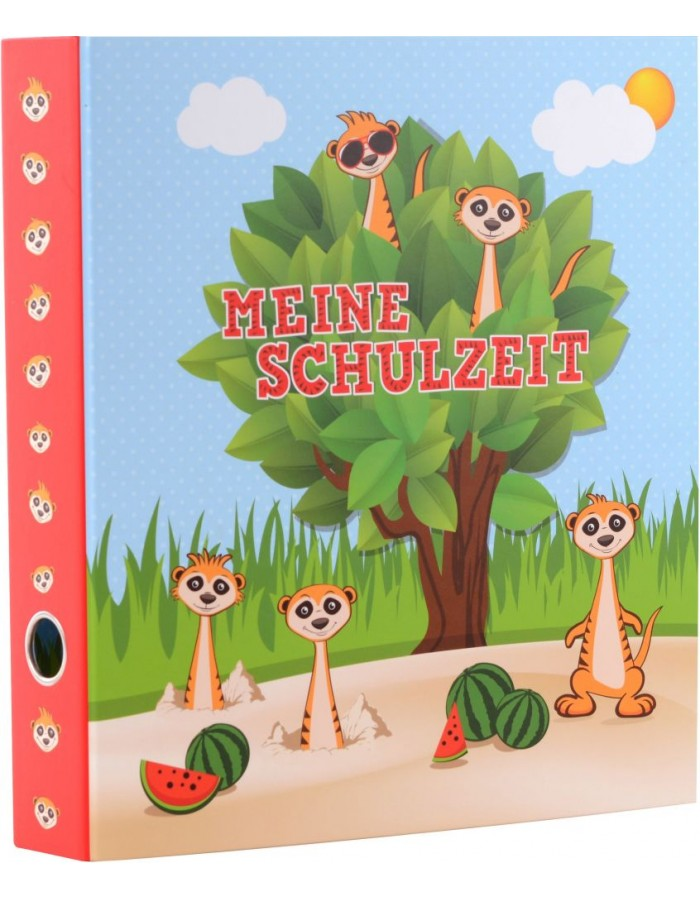 School pickup folder A4 Meerkats