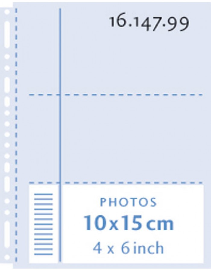 Henzo photo pockets 6x 10x15 cm transparent on