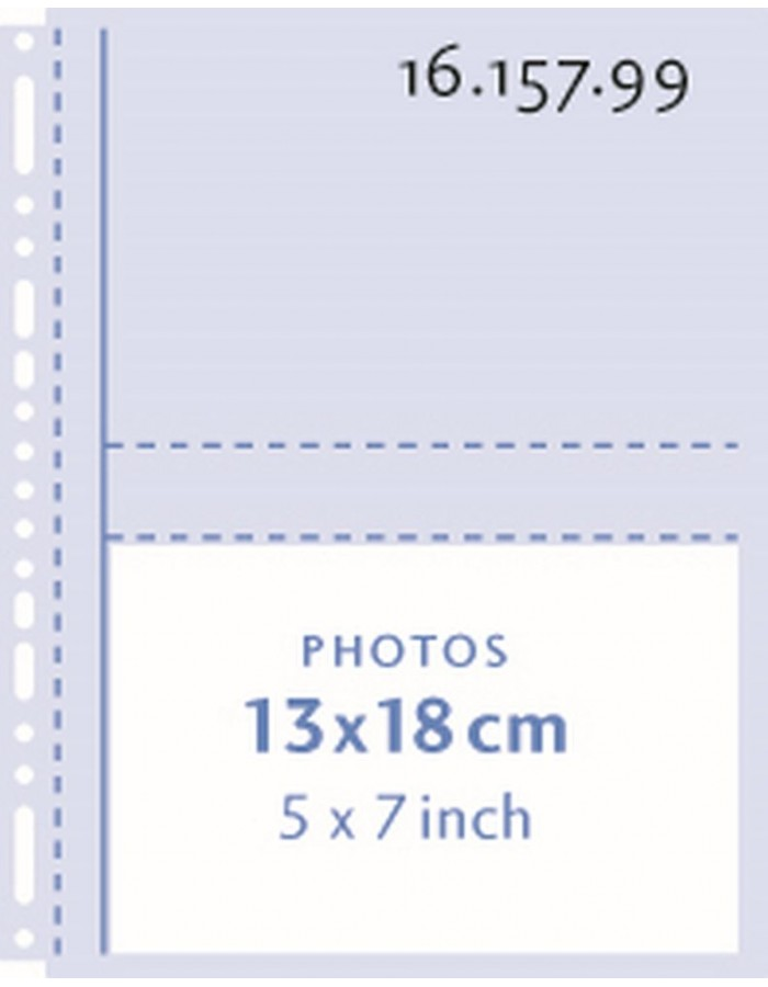 Henzo Photo filing pages  4x 13x18 cm transparent