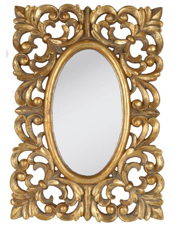 Oval Mirror gold 50x71 cm Clayre Eef | fotoalben-discount.de