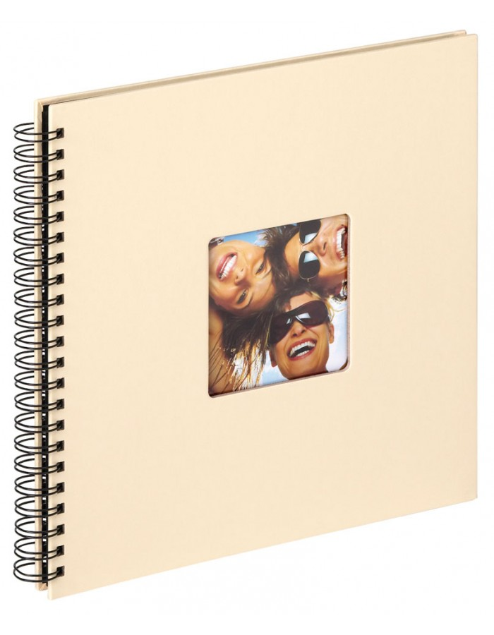 FUN spiral bound photo album 27x33 cm cream