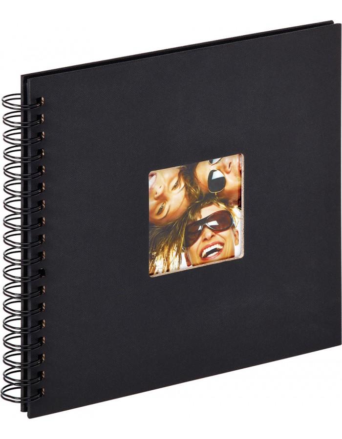 Spiralalbum Khari weiße und schwarze Seiten 23x24 cm