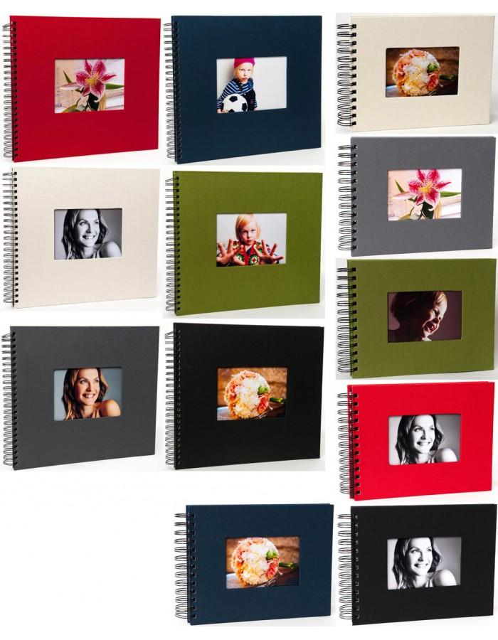 Spiralalbum Leinen schwarze Seiten | fotoalben-discount.de