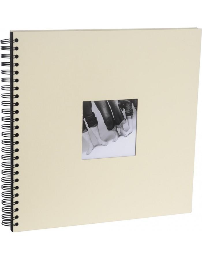 Spiralalbum Khari 10 Farben 33x33 cm Papiereinband schwarze Seiten