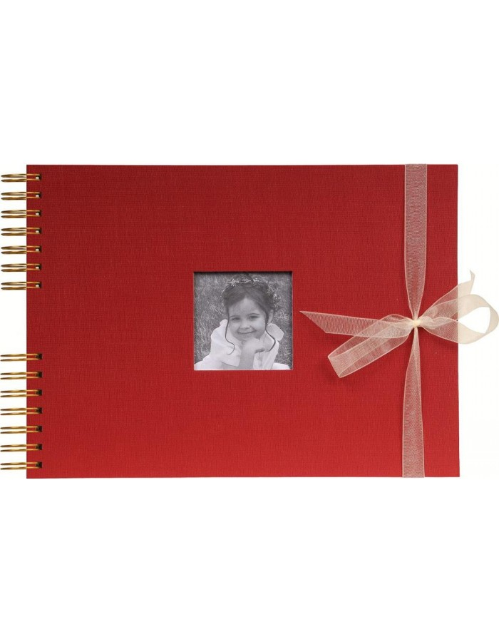 Spiral bound photo album Organza bordeaux