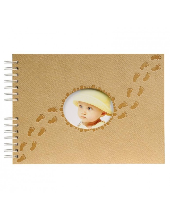 spiral bounded photo album PILOO beige 32 x 22 cm 50S
