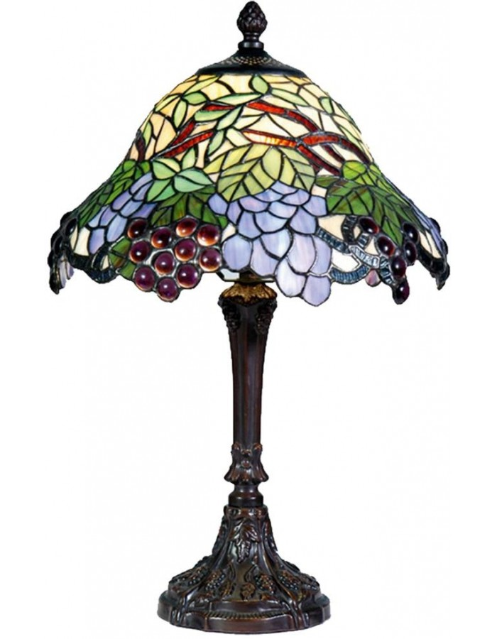 Floor lamp colorful Tiffany-style Ø 30 x 48 cm