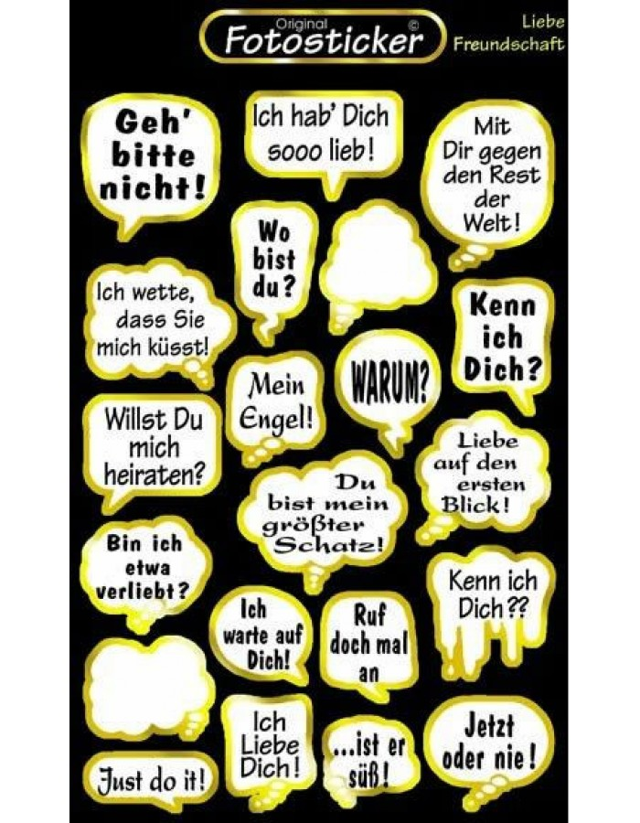 Sticker Liebe Freundschaft   Motiv 12 Fun Unlimited Products