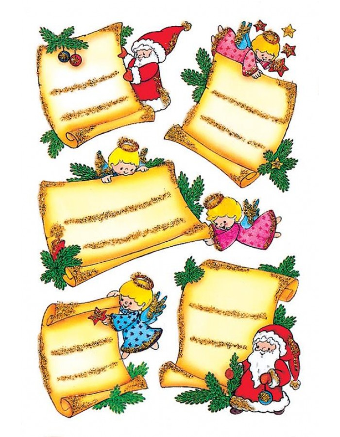 DECOR decorative labels chistmas motifs 2 sheets