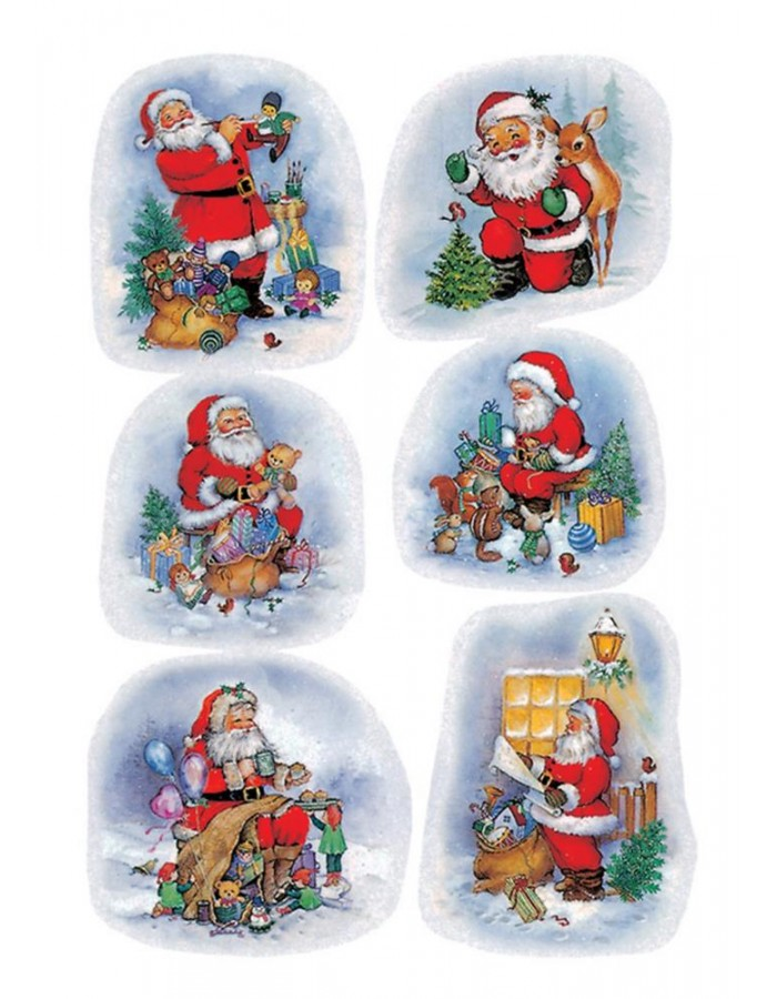 DECOR stickers Santa Claus in the forest paper 3 sh.