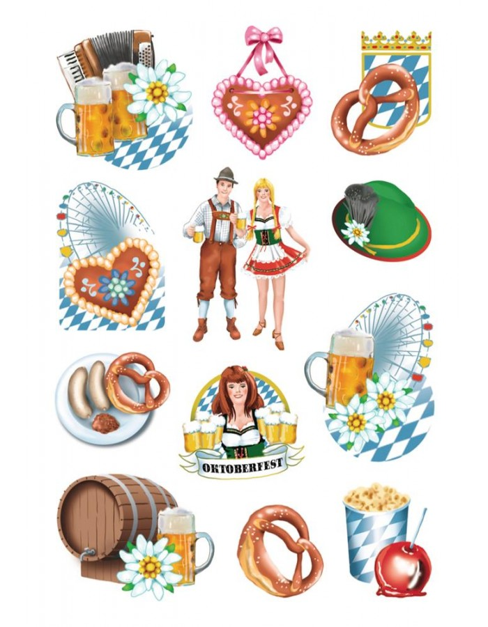Sticker Oktoberfest, 3 Bl.