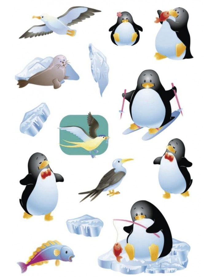 Decorative labels MAGIC Penguin Stone 1 sh.