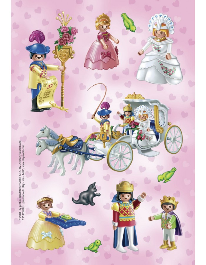 decorative labels Playmobil Prinzessin 2 sheets