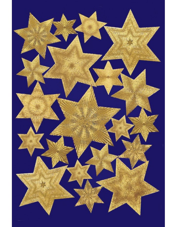 DECOR stickers stars engraved foil gold 1 sheet