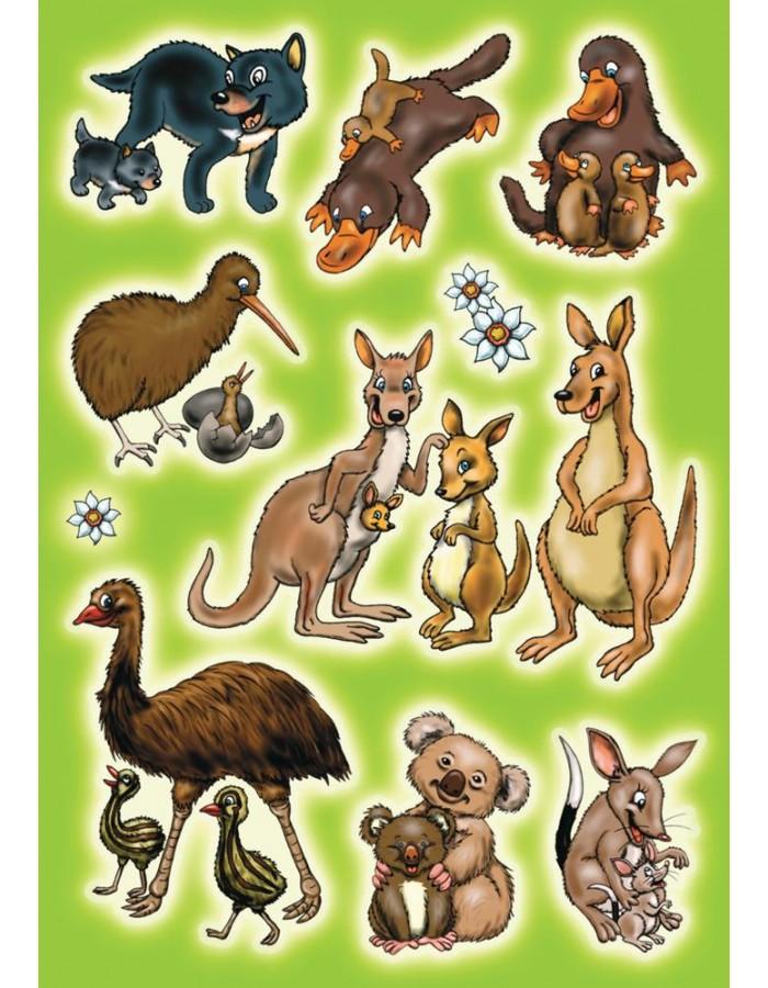 Sticker mit australischen Tieren aus der MAGIC-Serie Herma ...