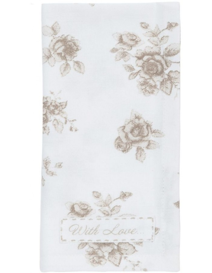 linen napkins (6) Rose Yard - RY43