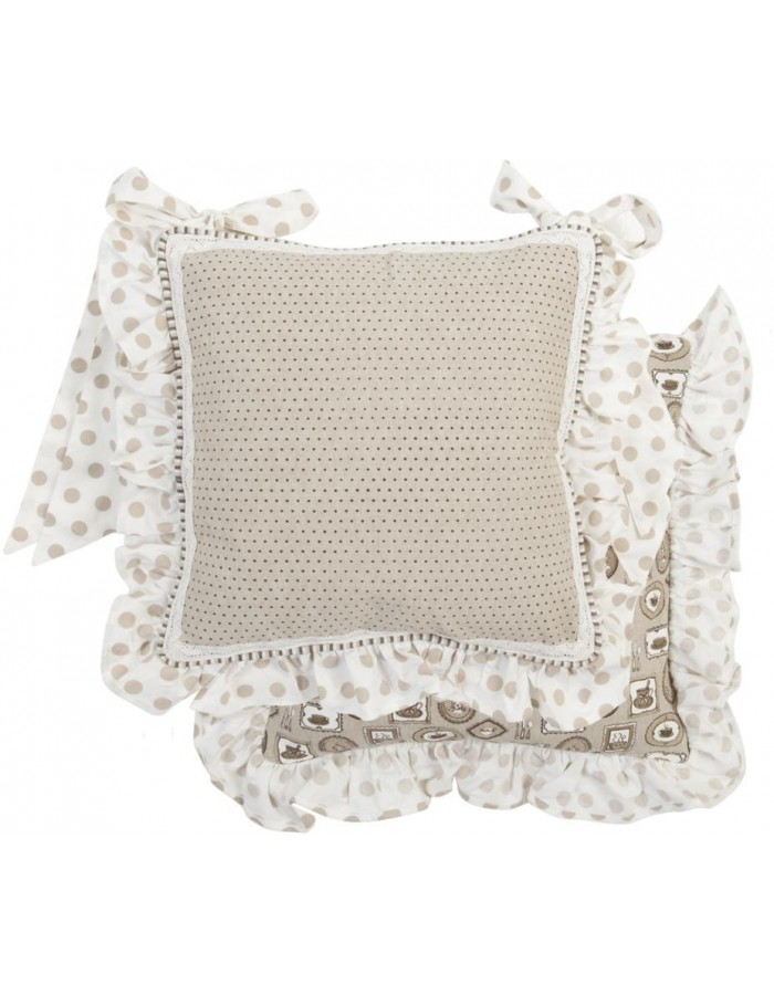 Chair Cushion Coffee Time 40x40 cm with ruffle