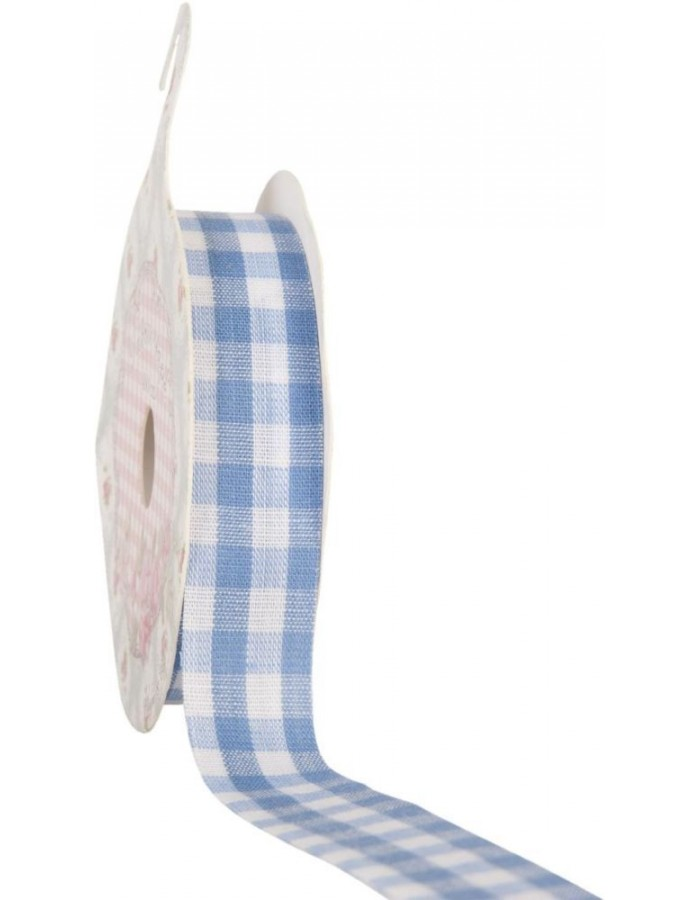 decoration tape 15mm x 500 cm - blue checked