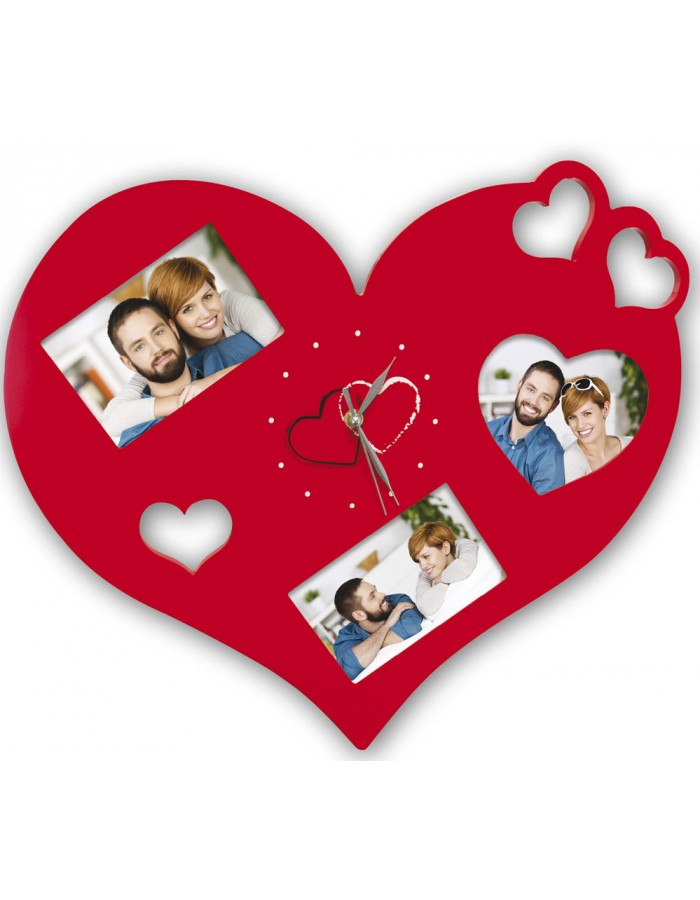 TAMMY heart-shaped photo clock