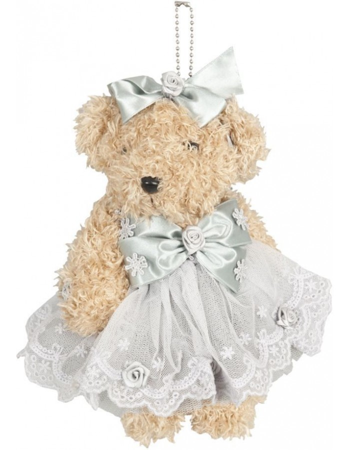 plush teddy 20 cm light blue