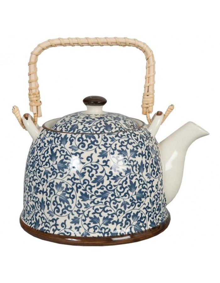 Teekanne Ø 14x14 cm Keramik blau 6CETE0005 Clayre Eef | fotoalben ...