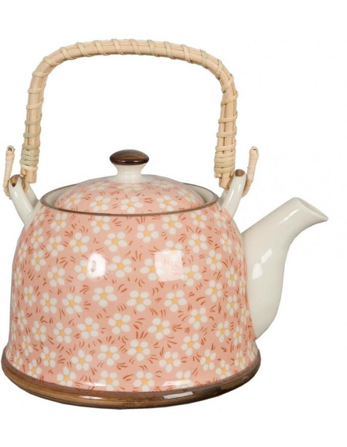 Teekanne Ø 14x14 cm Keramik rosa 6CETE0006 Clayre Eef | fotoalben ...