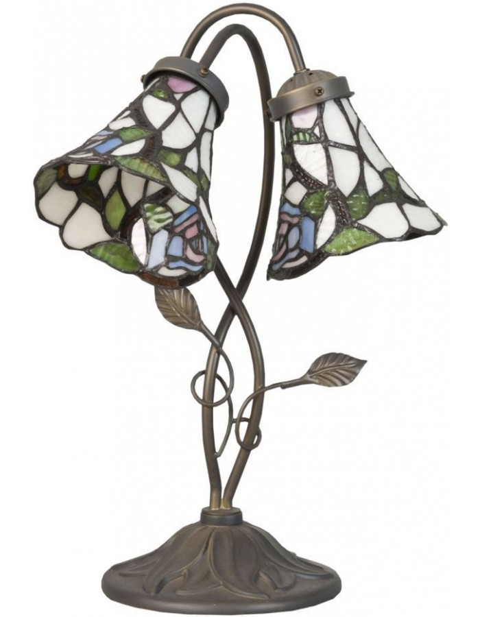 Tiffany table lamp with 2 shades