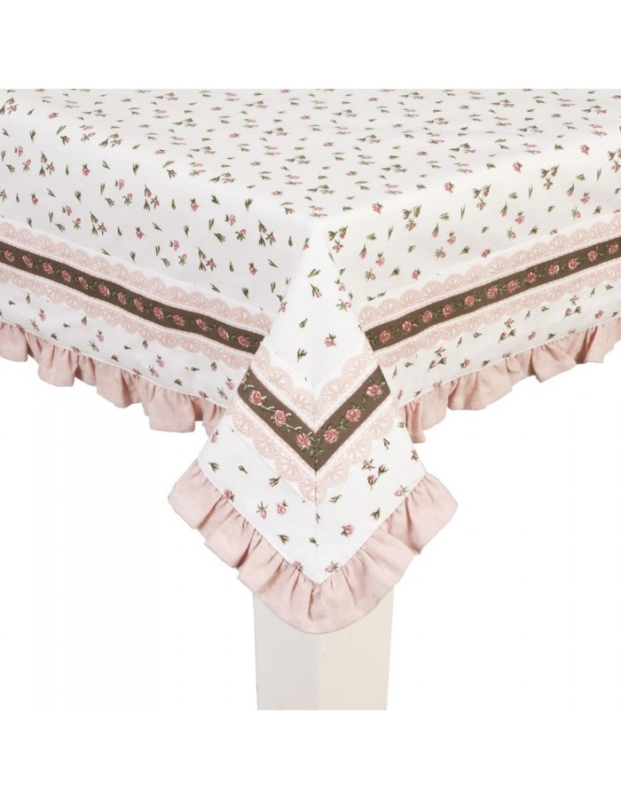 Tablecloth 130x180 cm Vintage Rose Pink